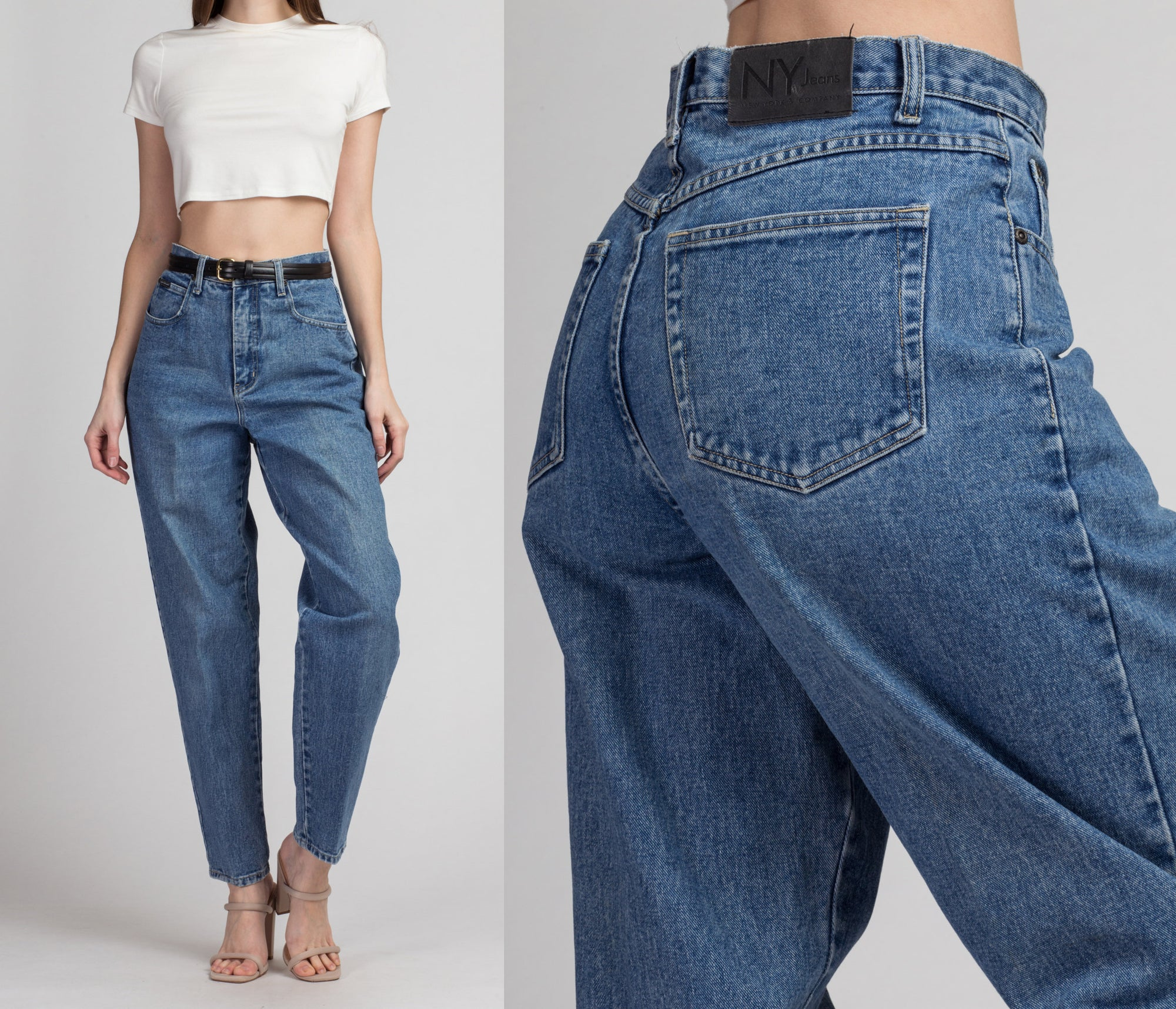 90s High Waist NY Jeans - Medium, 30"