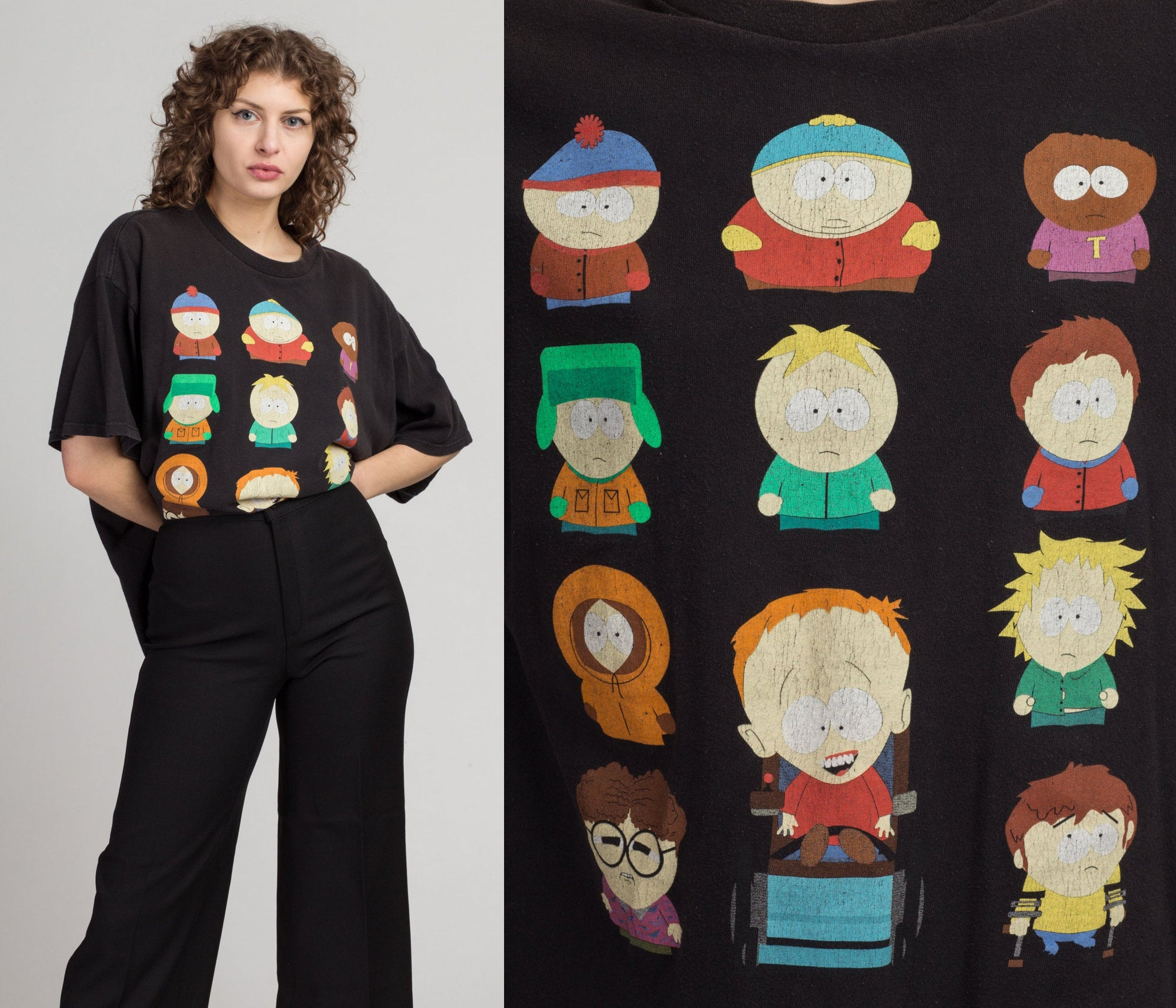 Vintage South Park T Shirt - 2XL | Y2k Black Oversize Cartoon Graphic Tee