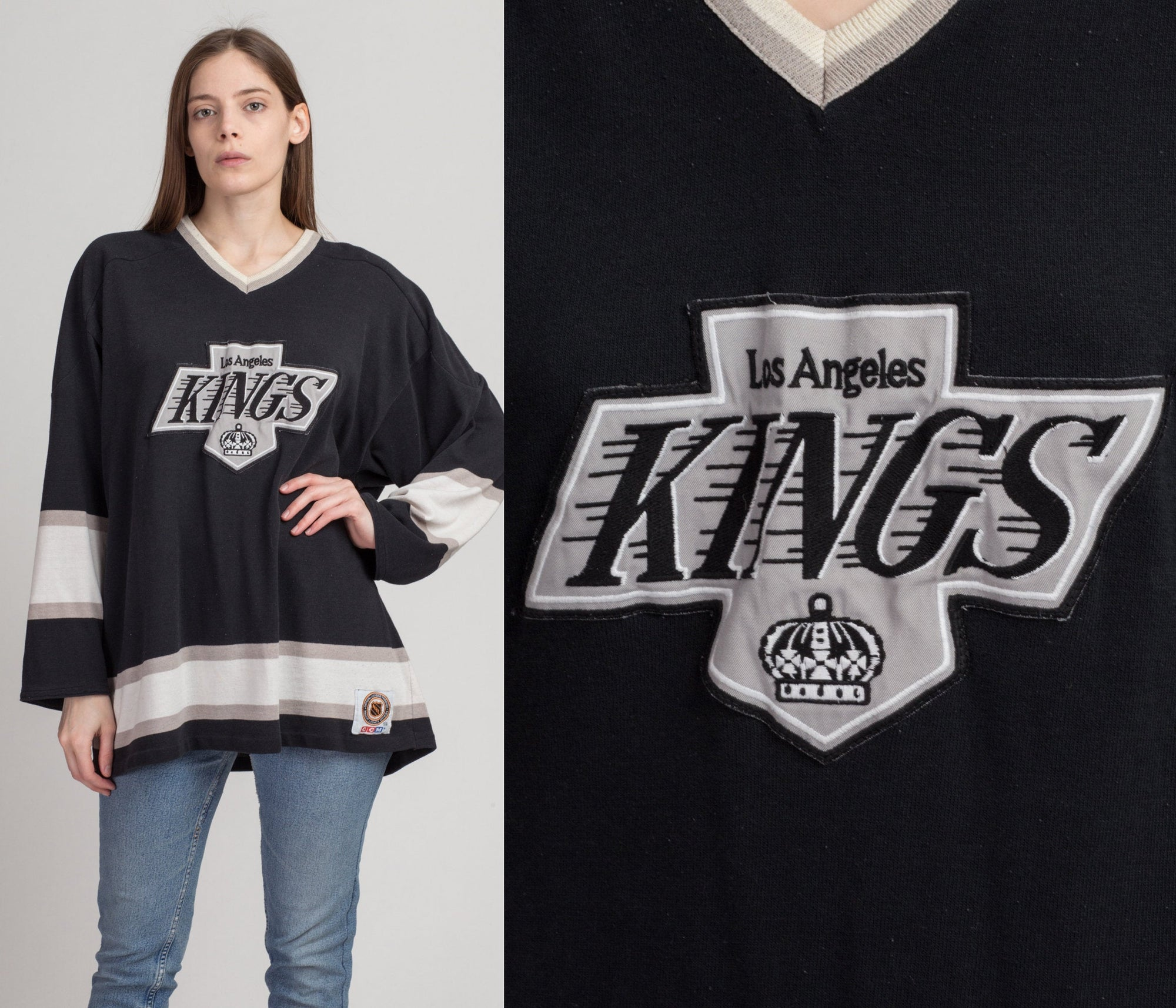 90s Los Angeles Kings NHL Jersey - XXL | Vintage CCM Unisex Hockey Black Graphic Tee