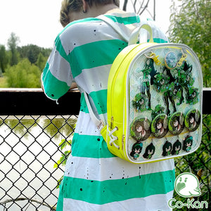 yellow froppy tsuyu bnha ita backpack