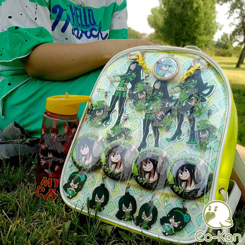 decorated froppy tsuyu ita bag backpack
