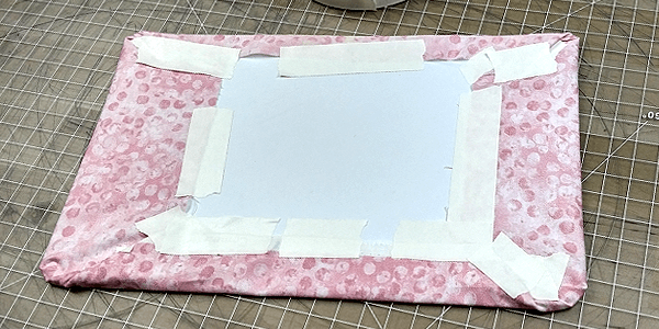 ita bag insert taping the edges