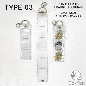 Badge Band anime merch or ita bag accessory Co-Kan Type 03