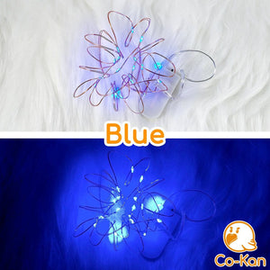 Deco Lights anime merch or ita bag accessory by Co-Kan Blue