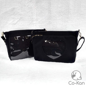 OTB Messenger Bag ita bag by Co-Kan Black Base Bag + Chain