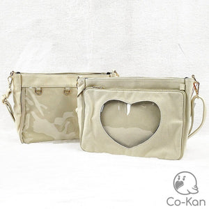 OTB Messenger Bag ita bag by Co-Kan Cream Base Bag + Chain