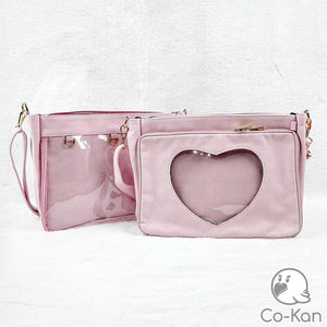 OTB Messenger Bag ita bag by Co-Kan Pink Base Bag + Chain
