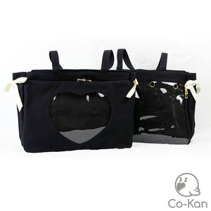 "OTB ""One True Bag"" Tote Bag ita bag by Co-Kan Black Base Bag + Chain"