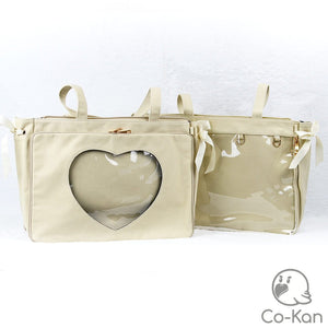 "OTB ""One True Bag"" Tote Bag ita bag by Co-Kan Cream Base Bag + Chain"