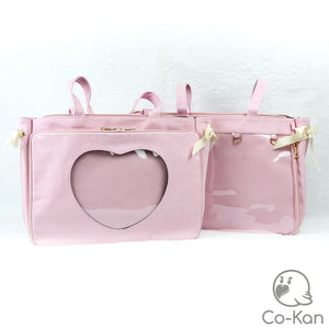 "OTB ""One True Bag"" Tote Bag ita bag by Co-Kan Pink Base Bag + Chain"
