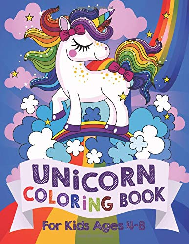 Behemotor Unicorn Coloring Book: For Kids Ages 4-8 (US Edition)