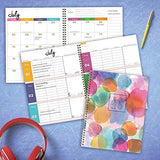 Behemotor Abstract Watercolor Dots Large Weekly Monthly 2020 Planner: July 2019 - June 2020 (Academic School Year, Student Planner)