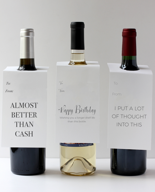 Happy Birthday Bottle Tag - Inviting Treasures