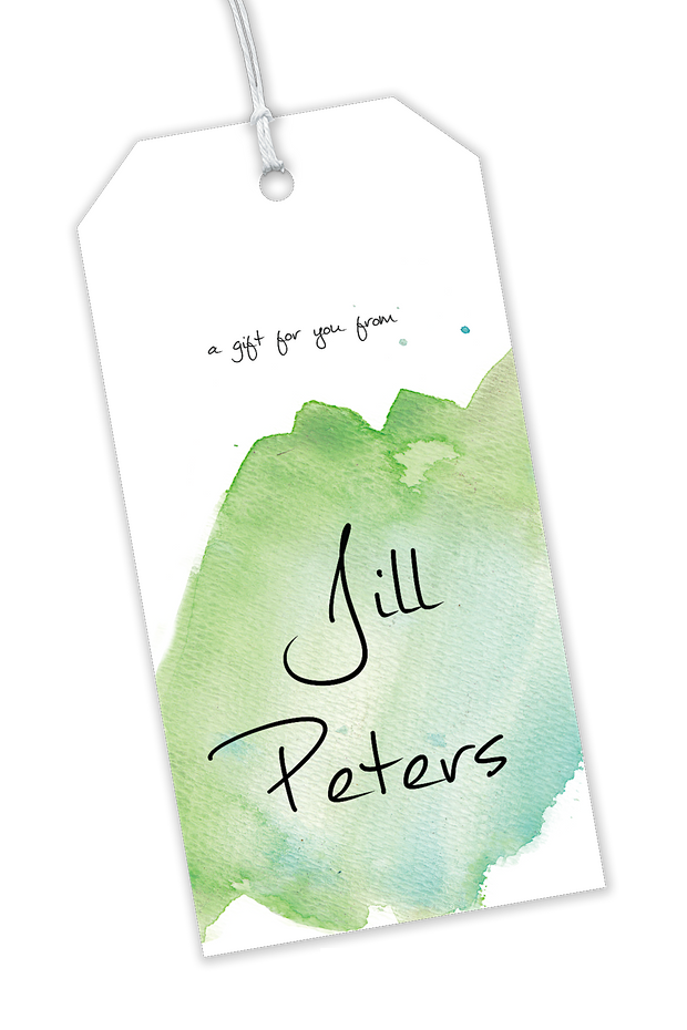 Green Watercolor Gift Tags