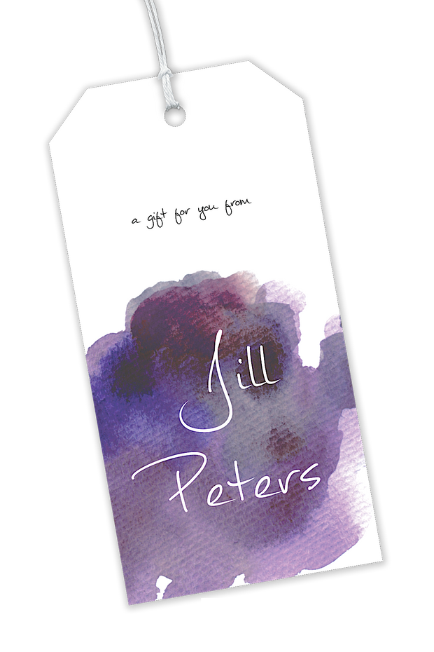 Purple Watercolor Gift Tag