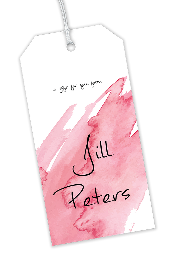 Pink Watercolor Gift Tag