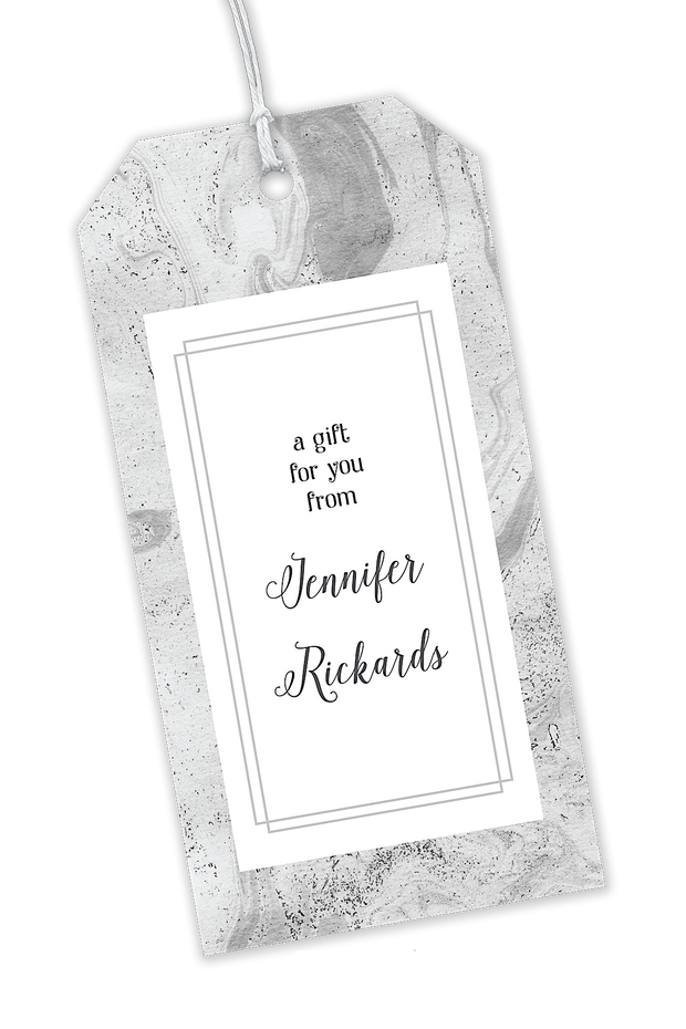Gray Marbled Gift Tags