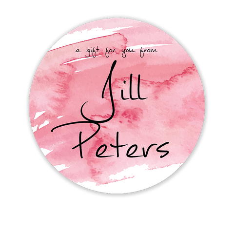Pink Watercolor Circle Gift Sticker