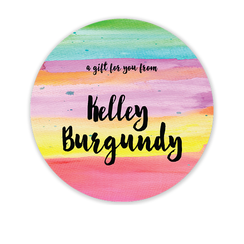 Watercolor Circle Gift Sticker