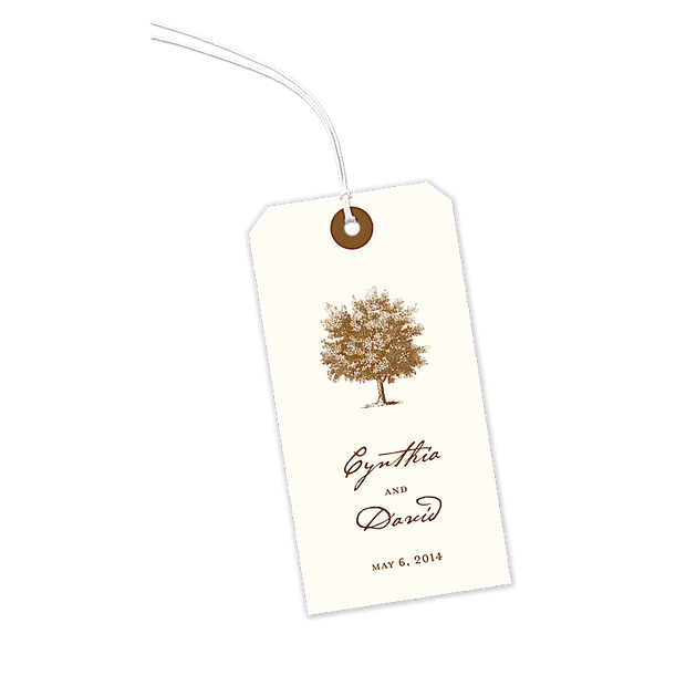 Stately Tree Gift Tag