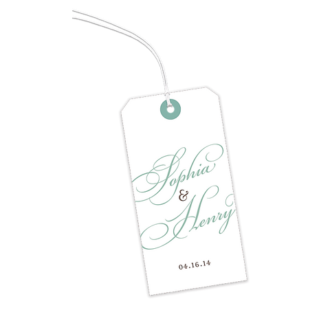 White with Ornate Script gift Tags