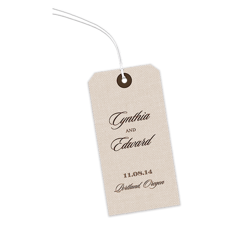 Natural Linen Gift Tags