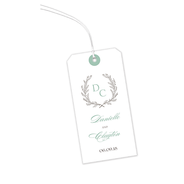 Provincial Garland Hanging Gift Tag