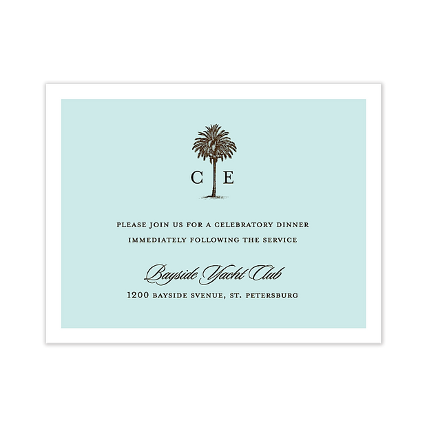 Romantic Getaway Reception Card
