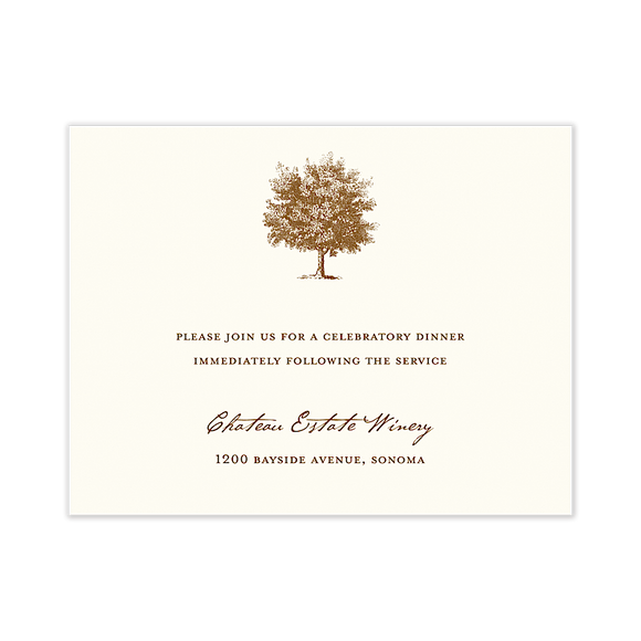 Under The Oak Reception Card