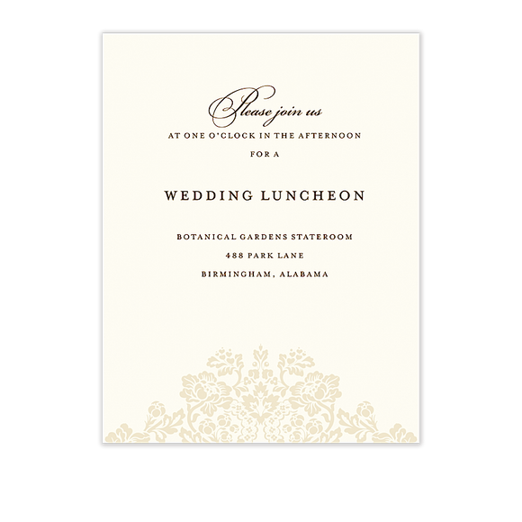 Wedding Bliss Reception Card