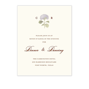 Hydrangea Bloom Reception Card