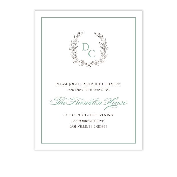 Provincial Garland Reception Card