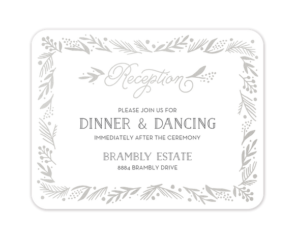Gleaming Leaf Foil Pressed Reception Card
