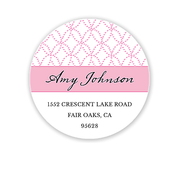 Lovely Dress (Blonde) Return Address Label