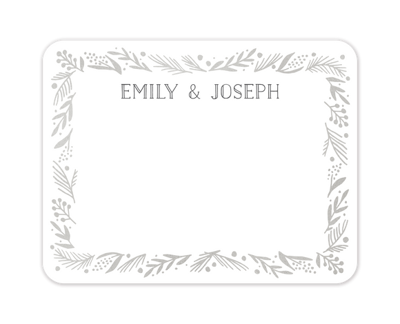 Gleaming Leaf Foil Pressed Flat Note