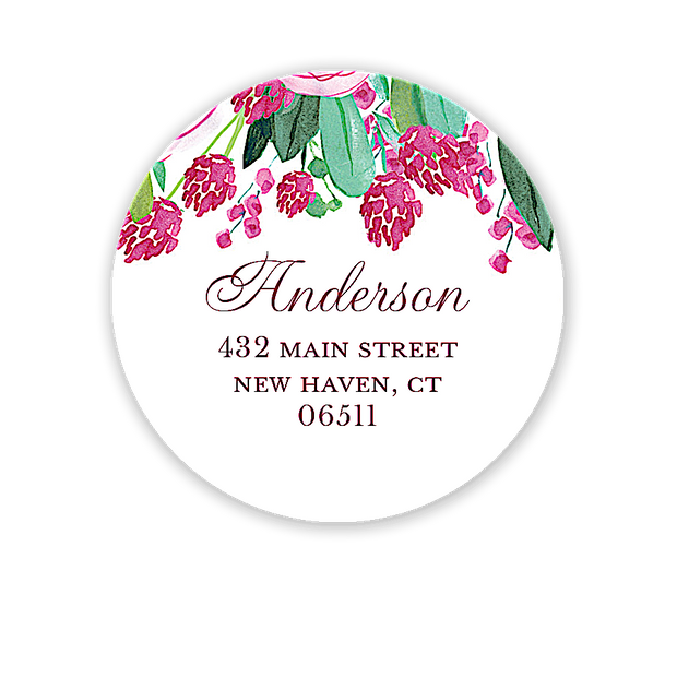 Plum Blossoms Address Label