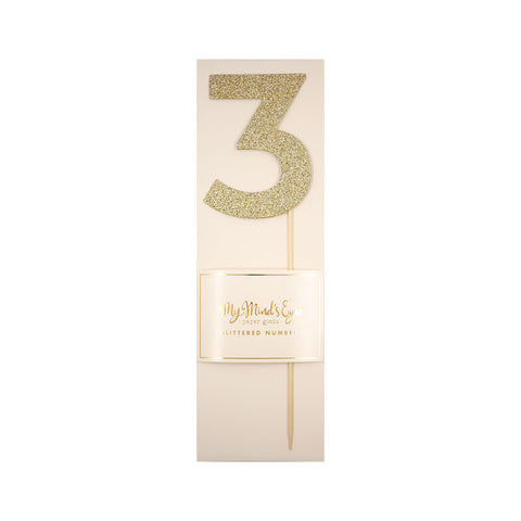 "Gold Glitter ""3"" - Inviting Treasures"