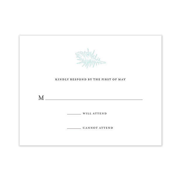 Seaside Wedding Response Card