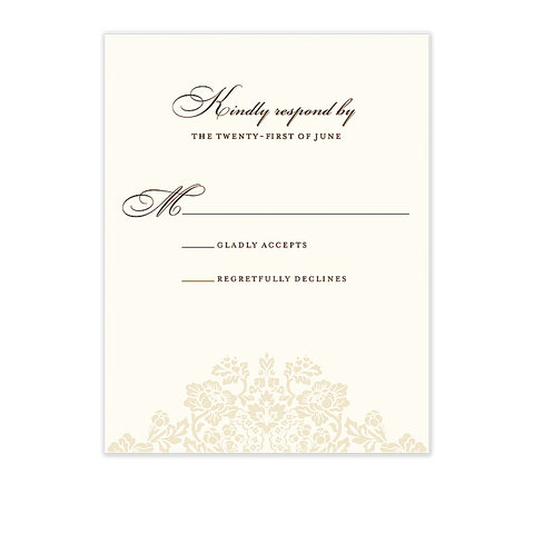 Wedding Bliss Response Card Cream