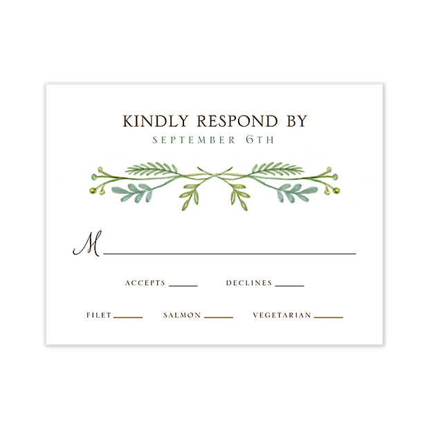 French Garden Response Card