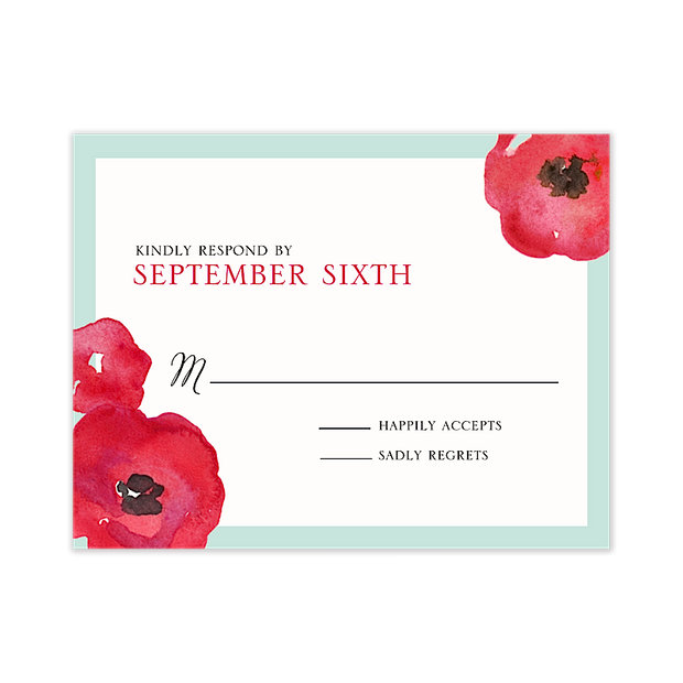 Painted Poppies Response Card