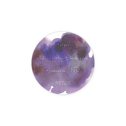 Purple Watercolor Circle - Inviting Treasures