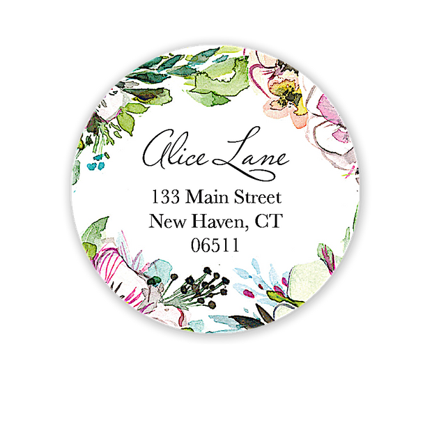 Rustic Floral Address Label