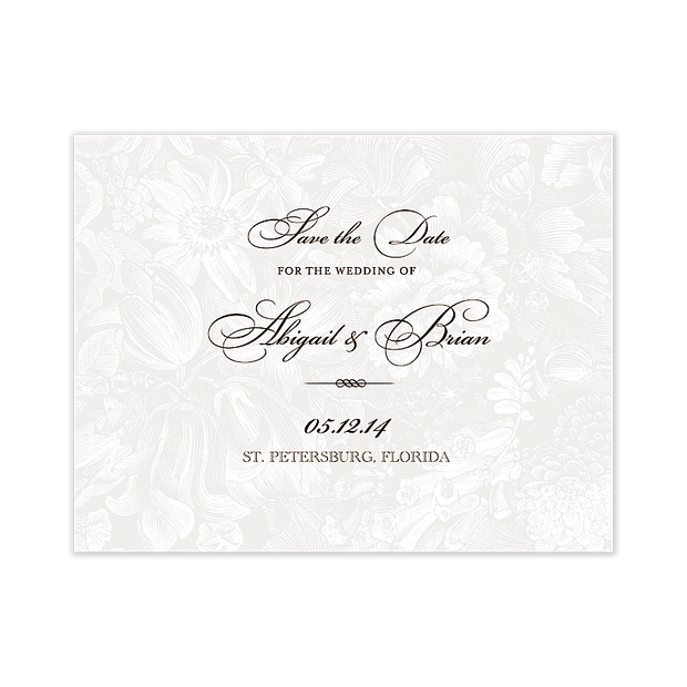 In The Garden Save The Date Invitation