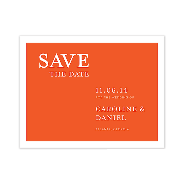 Perfectly Simple Save The Date Card