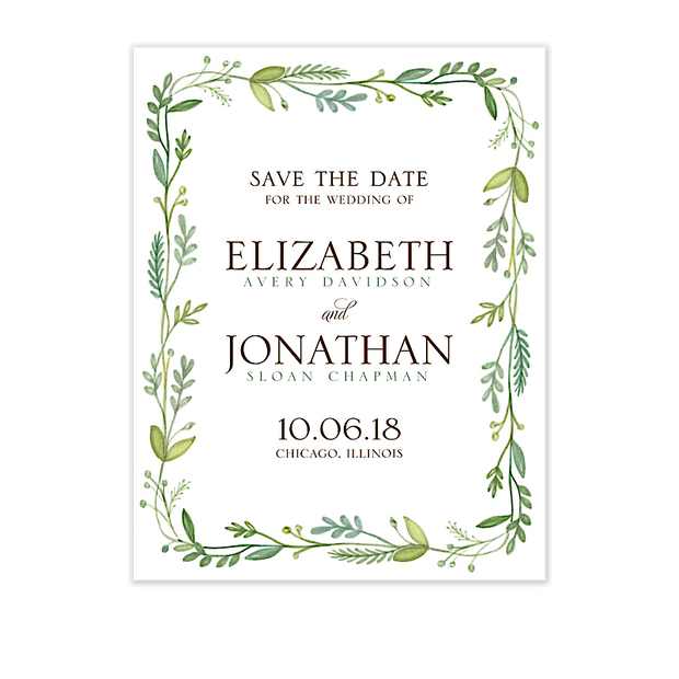French Garden Save The Date Card