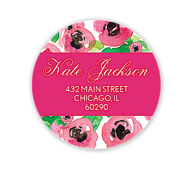 Stylish Bridal Silhouette Address Label
