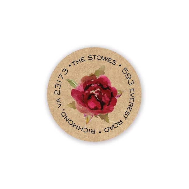 Rustic Romance Return Address Sticker - Inviting Treasures