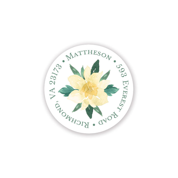 Southern Blooms Return Address Sticker