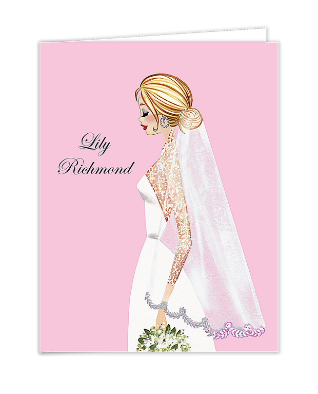 Vintage Veil (Blonde) Folded Note
